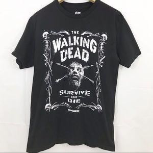 The Walking Dead Shirt Graphics TV Show Skull